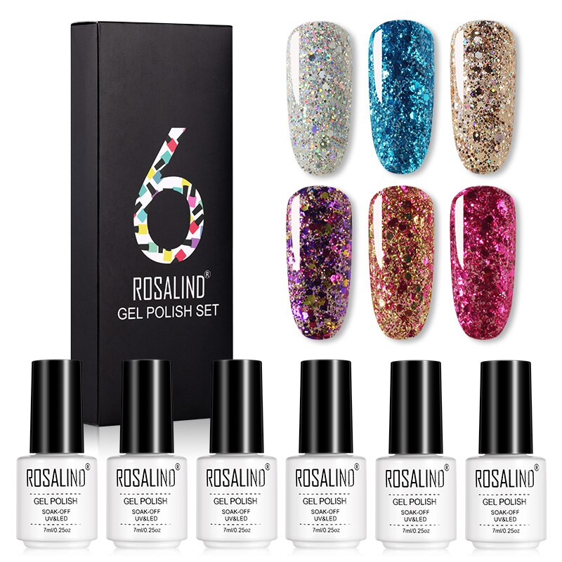 Coffret 6 vernis semi-permanent nuances superstar