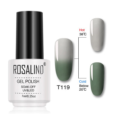 Vernis ongles gel thermique gris vert