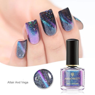 Vernis ongles magnétique style univers