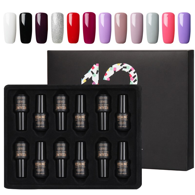 Coffret 12 vernis semi-permanents nuances lunaires