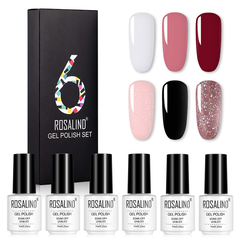 Coffret 6 vernis semi-permanent nuances star