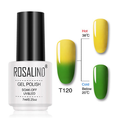 Vernis ongles gel thermique vert pomme jaune