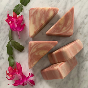all natural flowers and honey bar soap