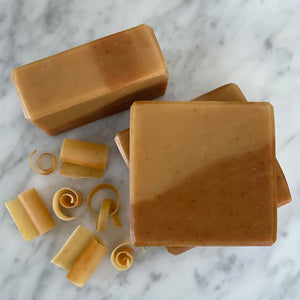 citrus, honey and turmeric soap for dry skin