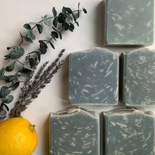 Load image into Gallery viewer, all natural eucalyptus, lemon and lavender bar soap