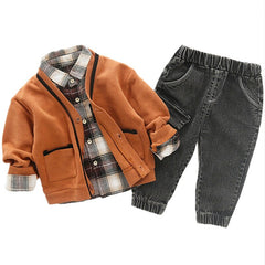 Autumn Orange Plaid Set