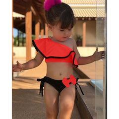 Two Piece One Shoulder Swimsuit