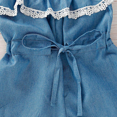Denim Romper with Headband