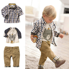 Khaki Plaid Set