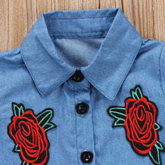 Denim and Roses Set