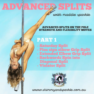 Advanced Splits On The Pole with Maddie Sparkle
