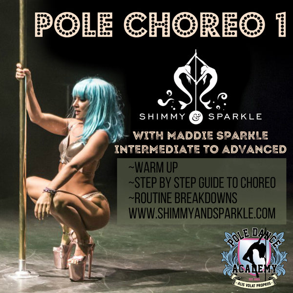 Pole Choreo 1 with Maddie Sparkle! Intermediate to Advanced level