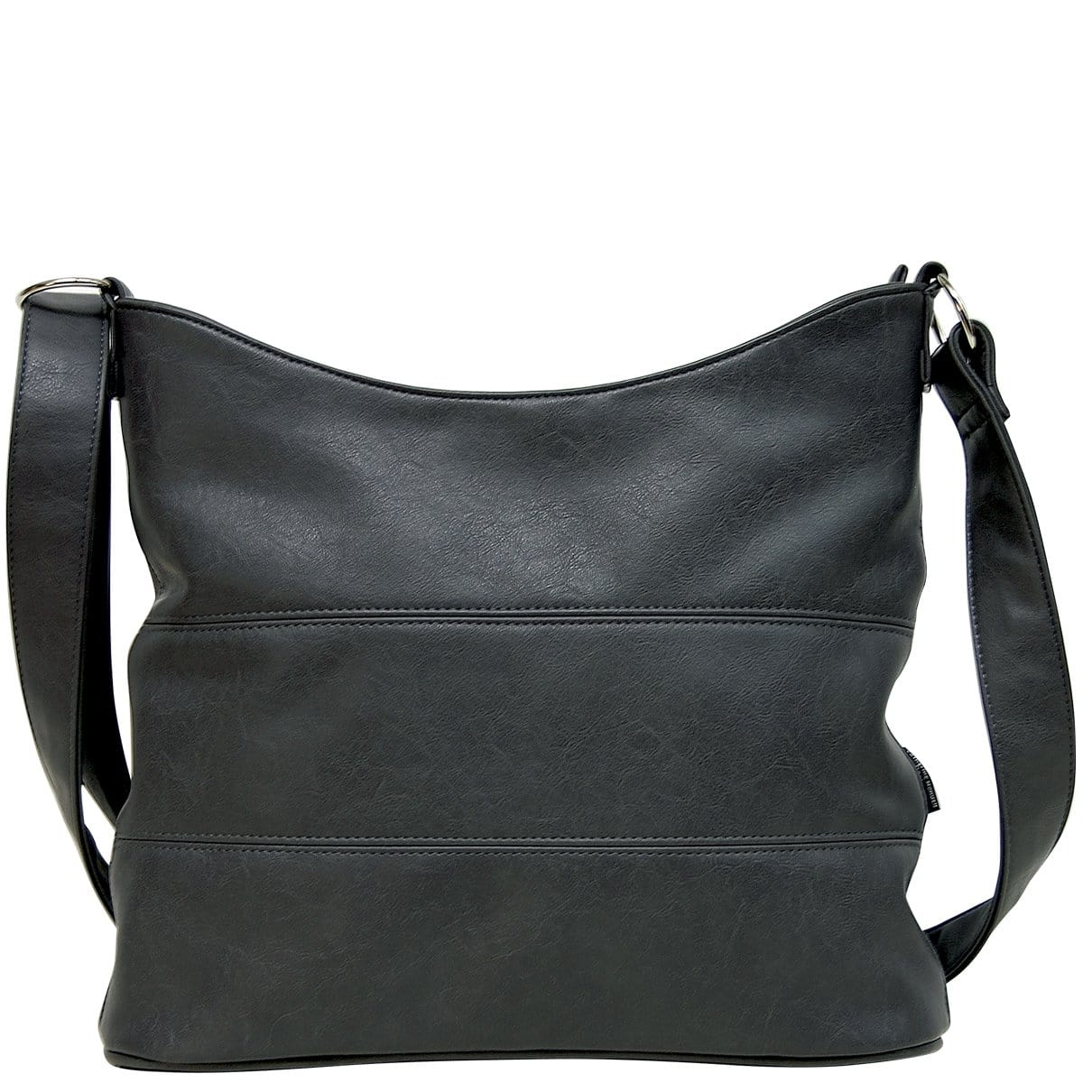 Panel Slouch - Black Leather Look