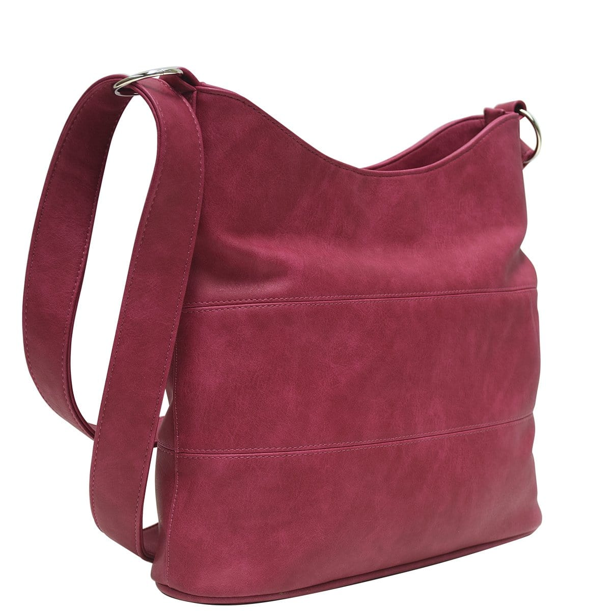 Panel Slouch - Fuschia Leather Look