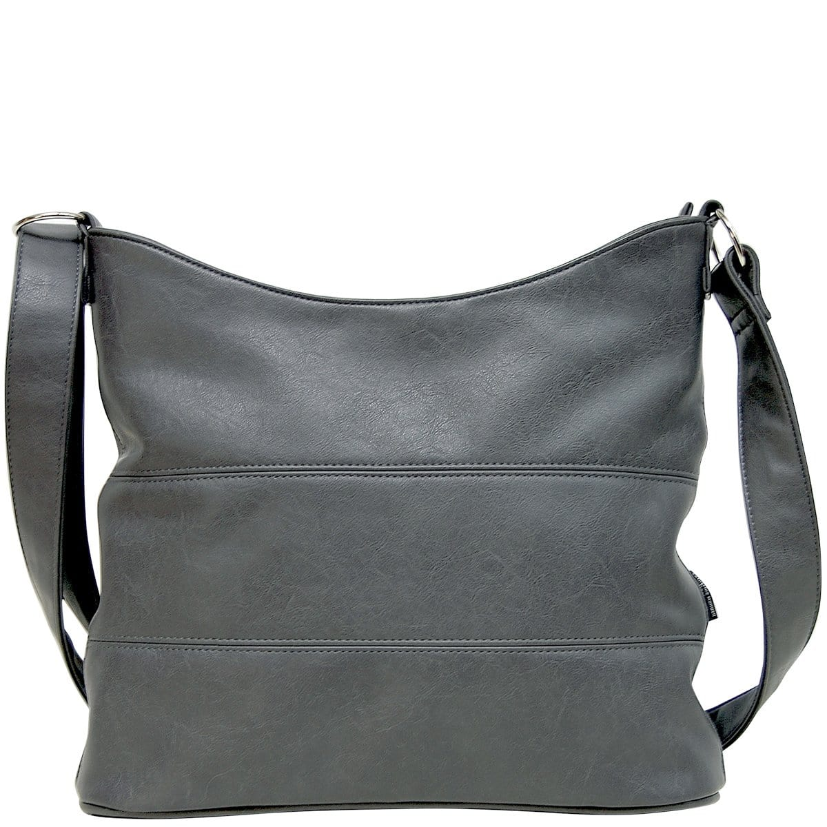 Panel Slouch - Grey Leather Look