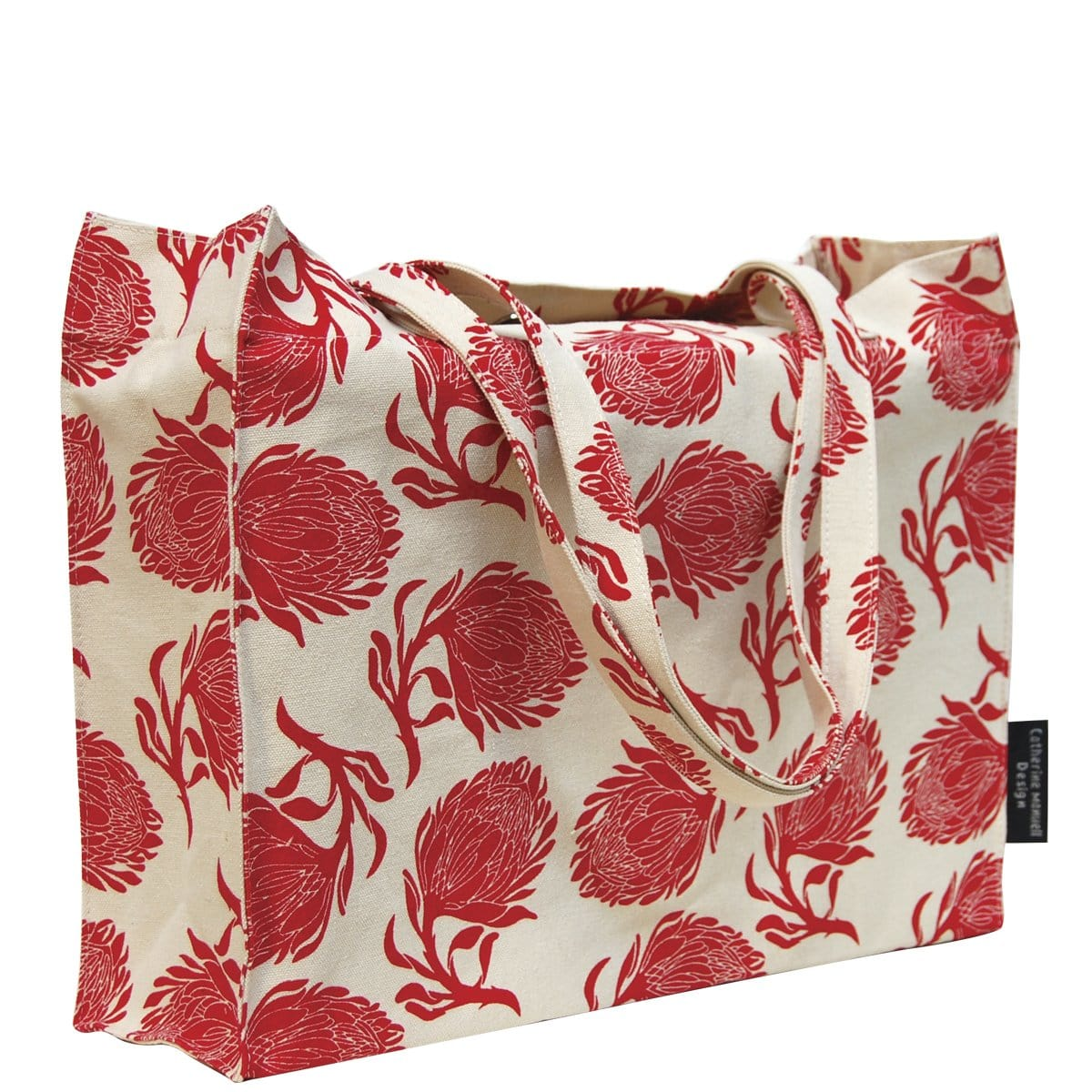 Beach Bag/Eco Shopper Tote - Red Protea
