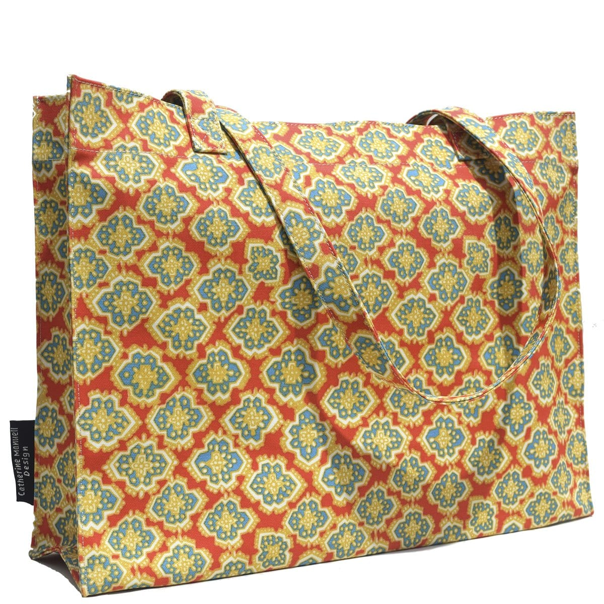 Beach Bag/Eco Shopper Tote - Red Blue Jewel