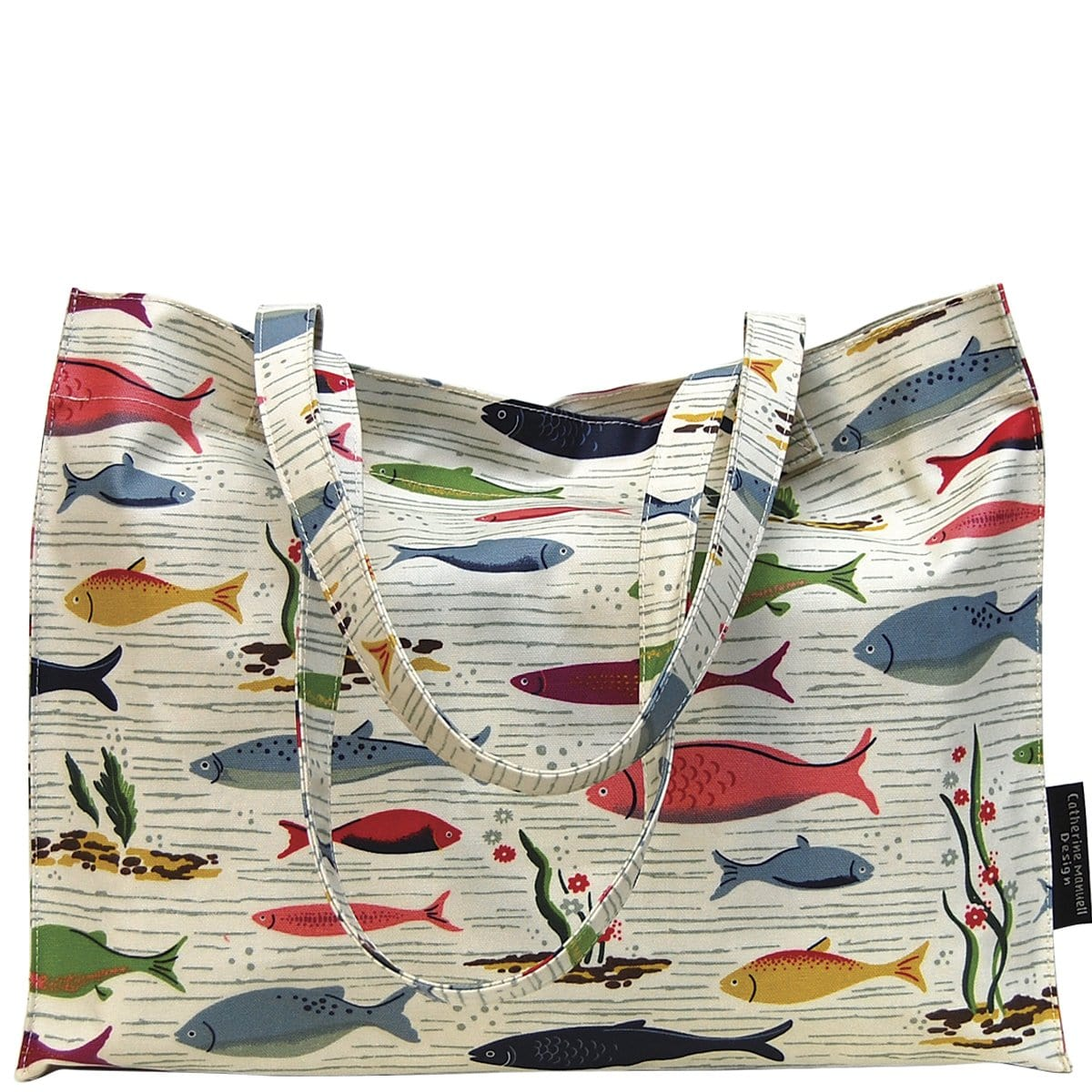 Beach Bag/Eco Shopper Tote - Retro Fish