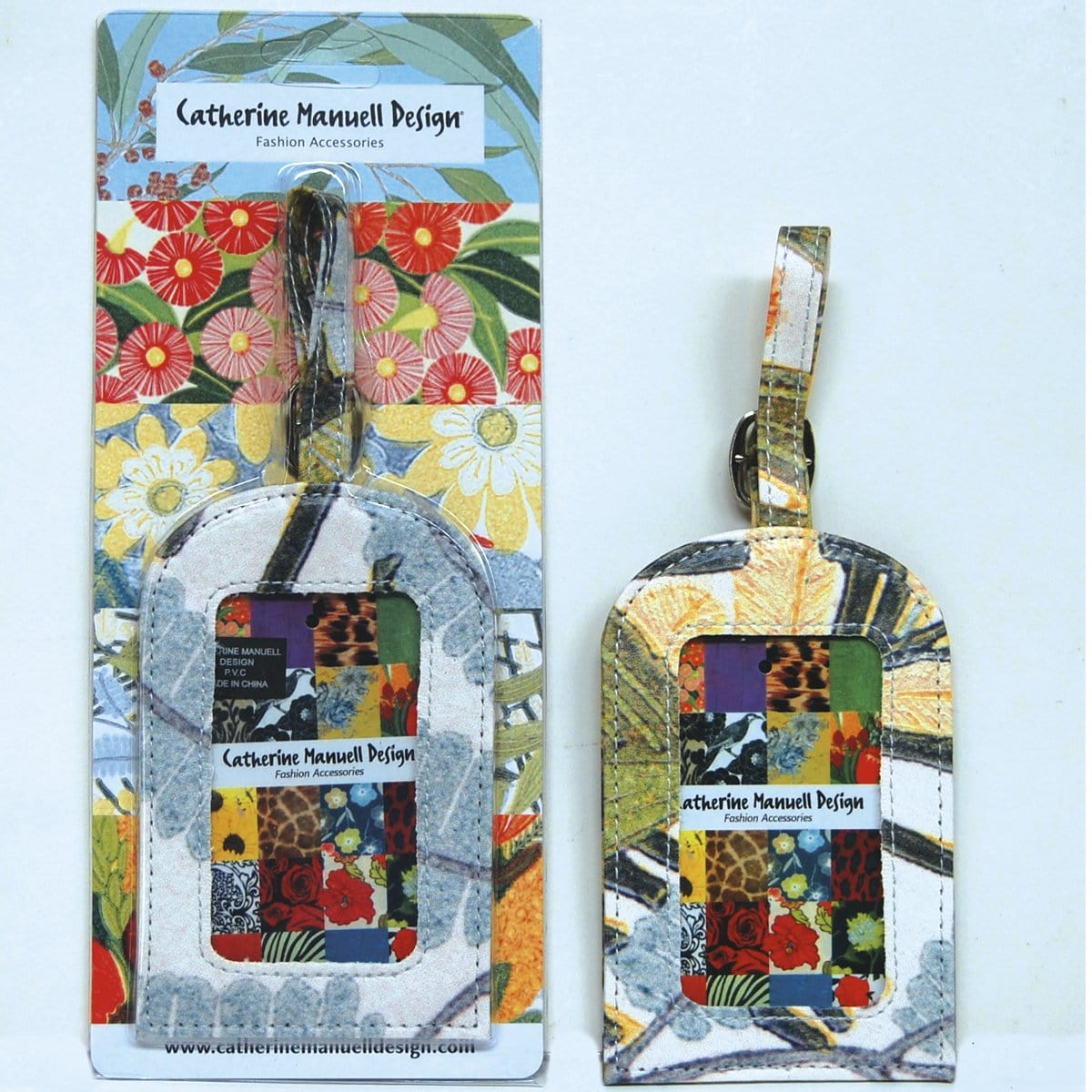 Floral Luggage Tag - Wattle