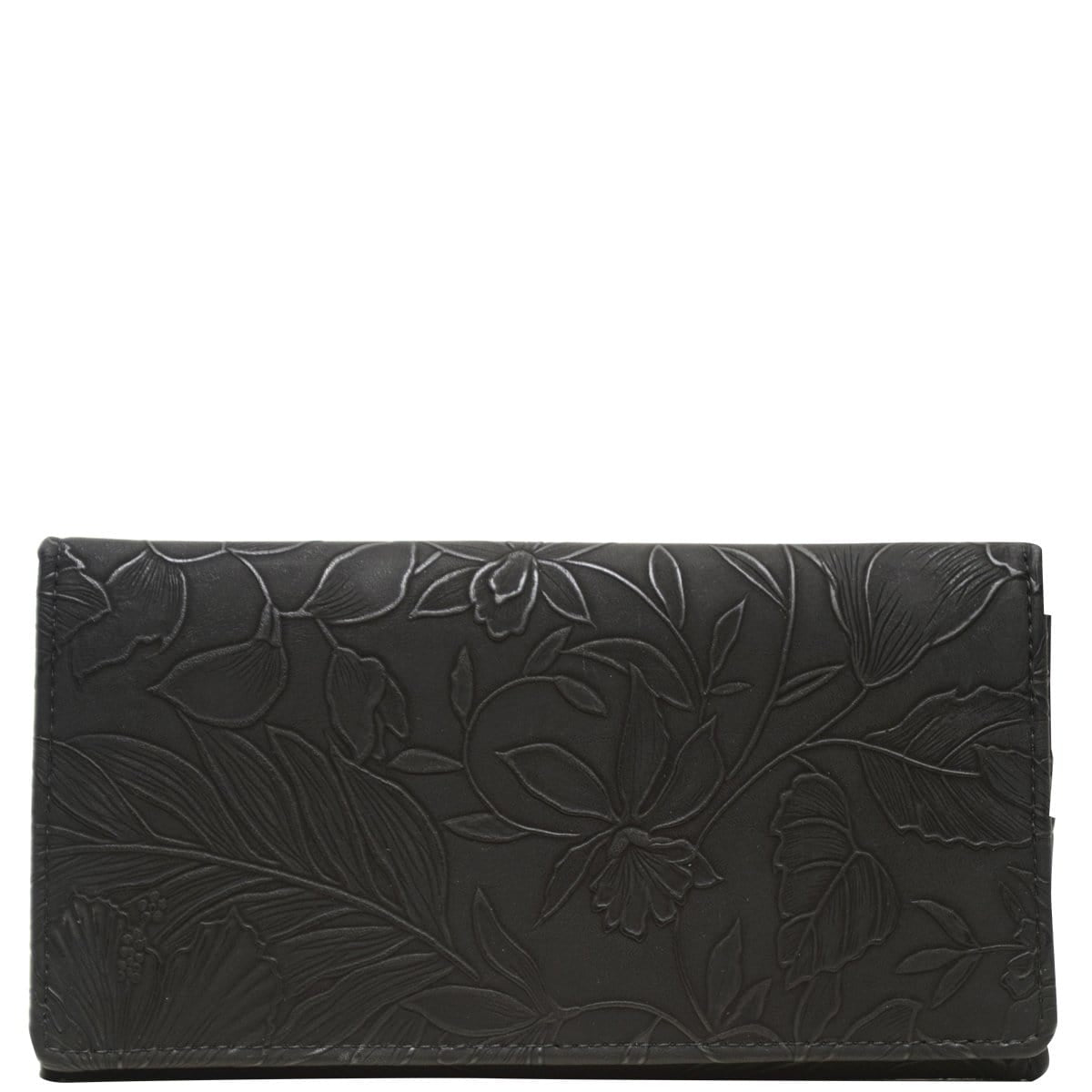 Wider Window Wallet - Black Emboss Tahiti