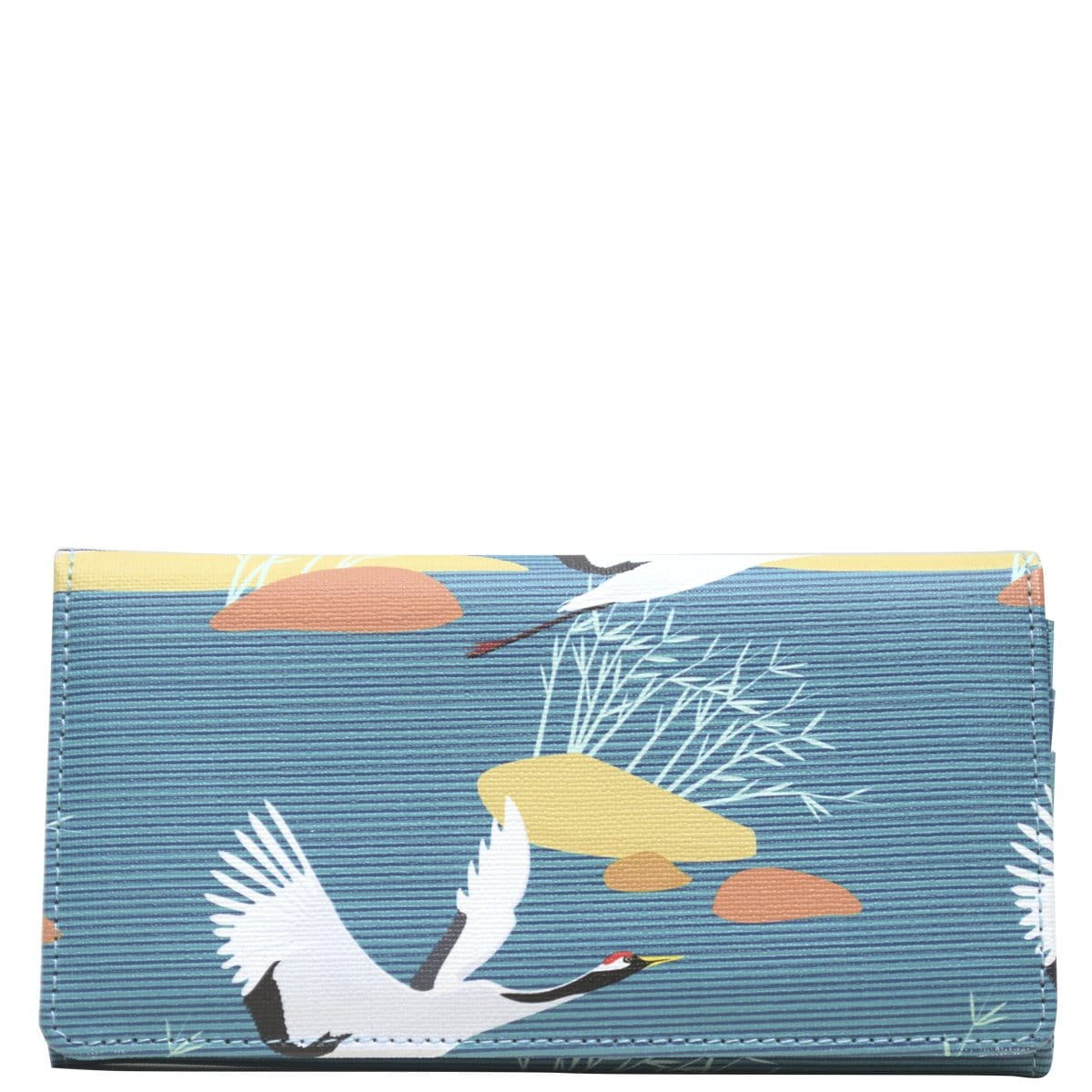 Wider Window Wallet - Blue Cranes