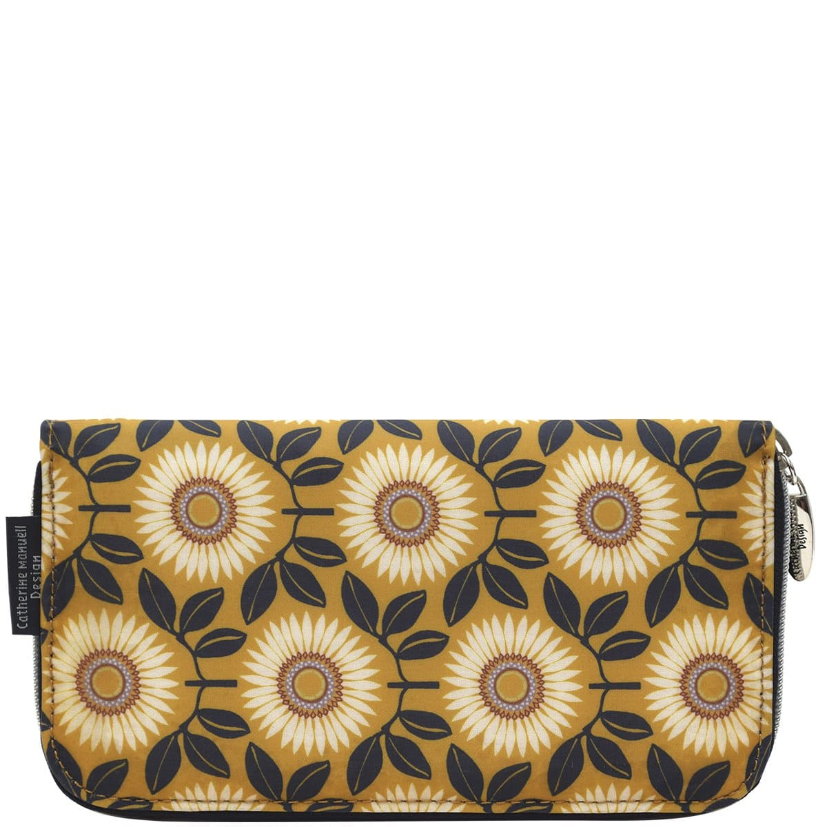 Curved Zip Section Wallet - Liberty Mustard Sunflower