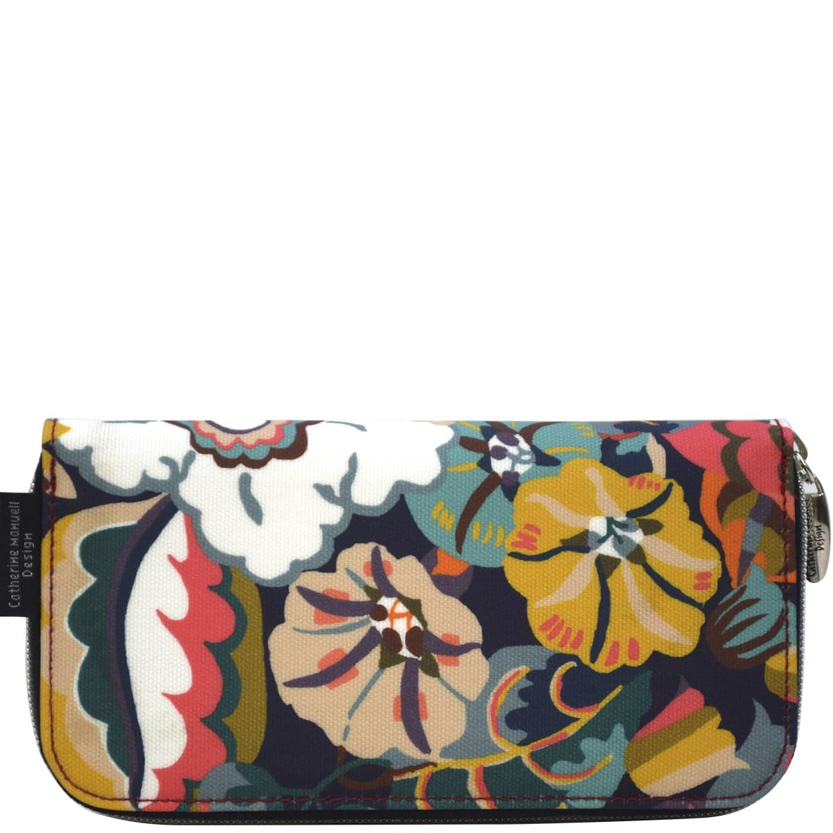 Curved Zip Section Wallet - Liberty Gatsby Garden