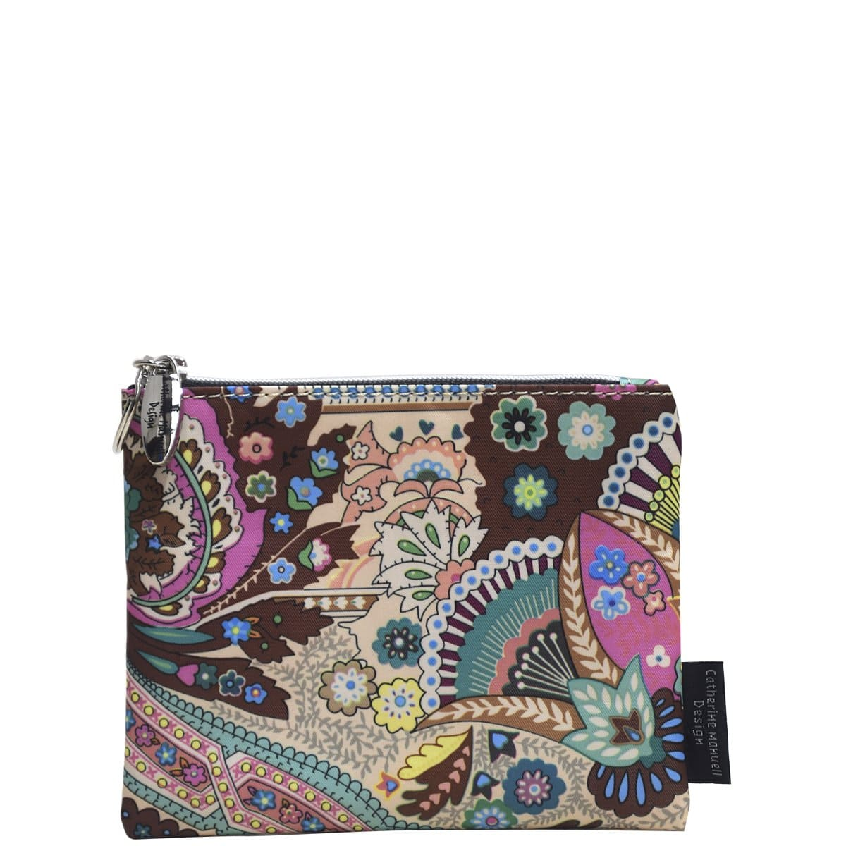 Everyday Purse - Pink Green Blue Paisley