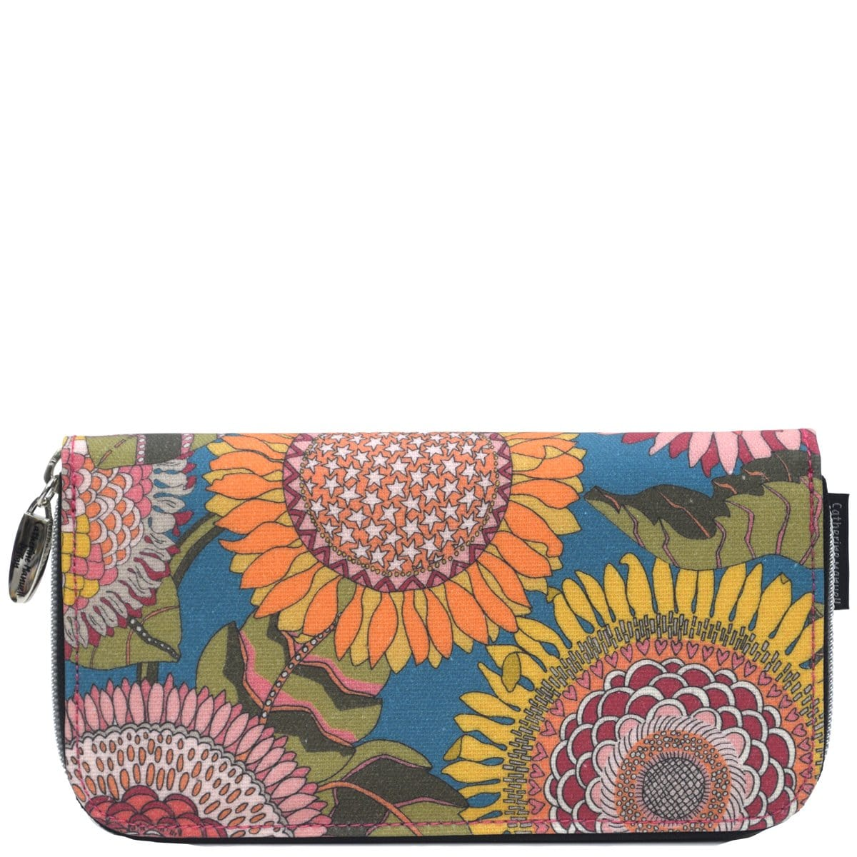 Curved Zip Section Wallet - Liberty Sunflower Brights