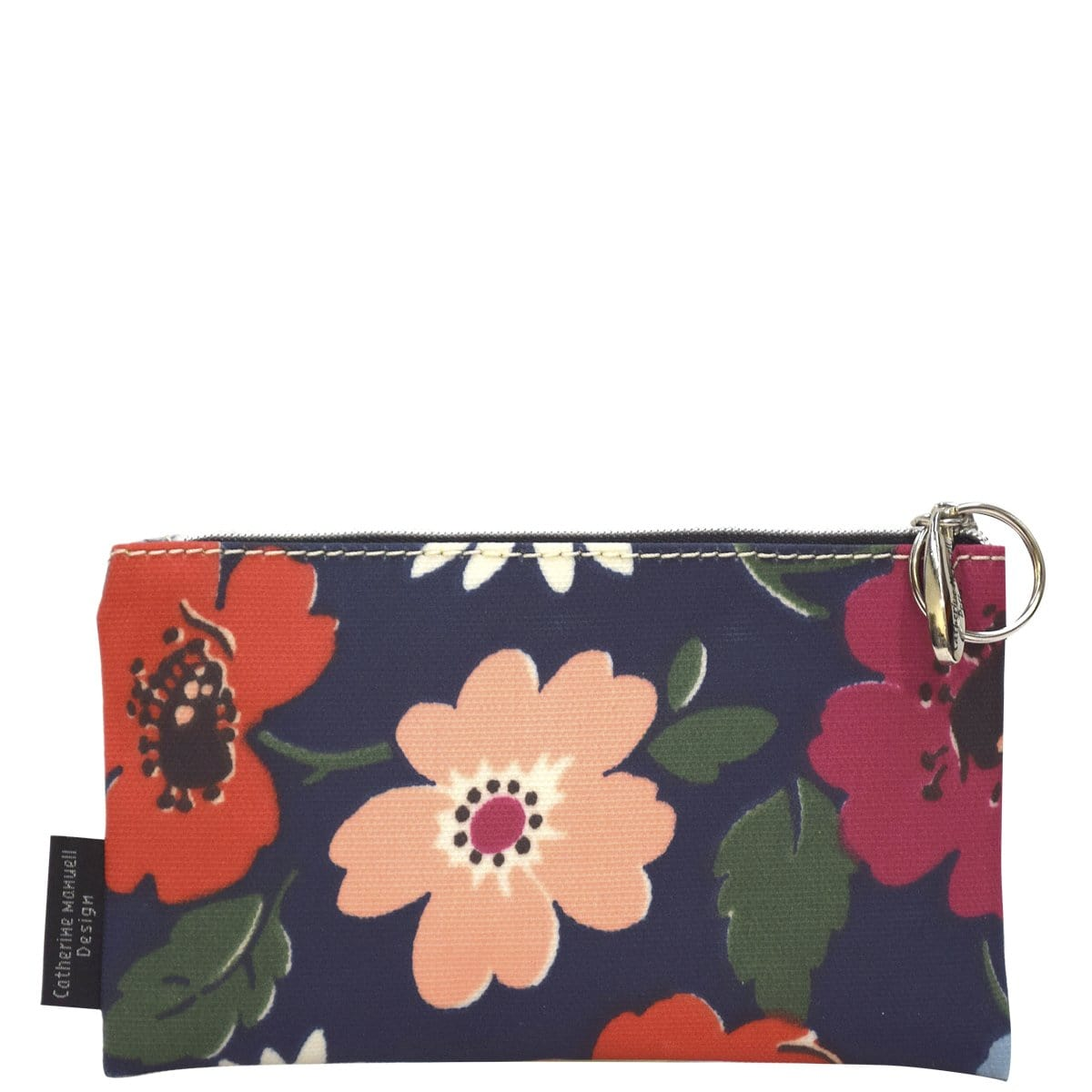 Medium Overflow Purse - Navy Flowers