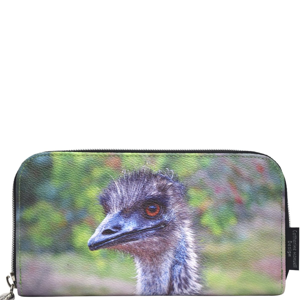 Curved Zip Section Wallet - Emu