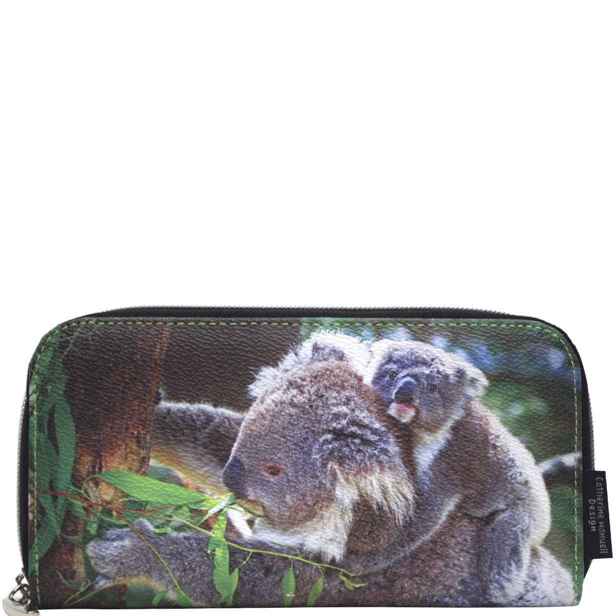 Curved Zip Section Wallet - Koala