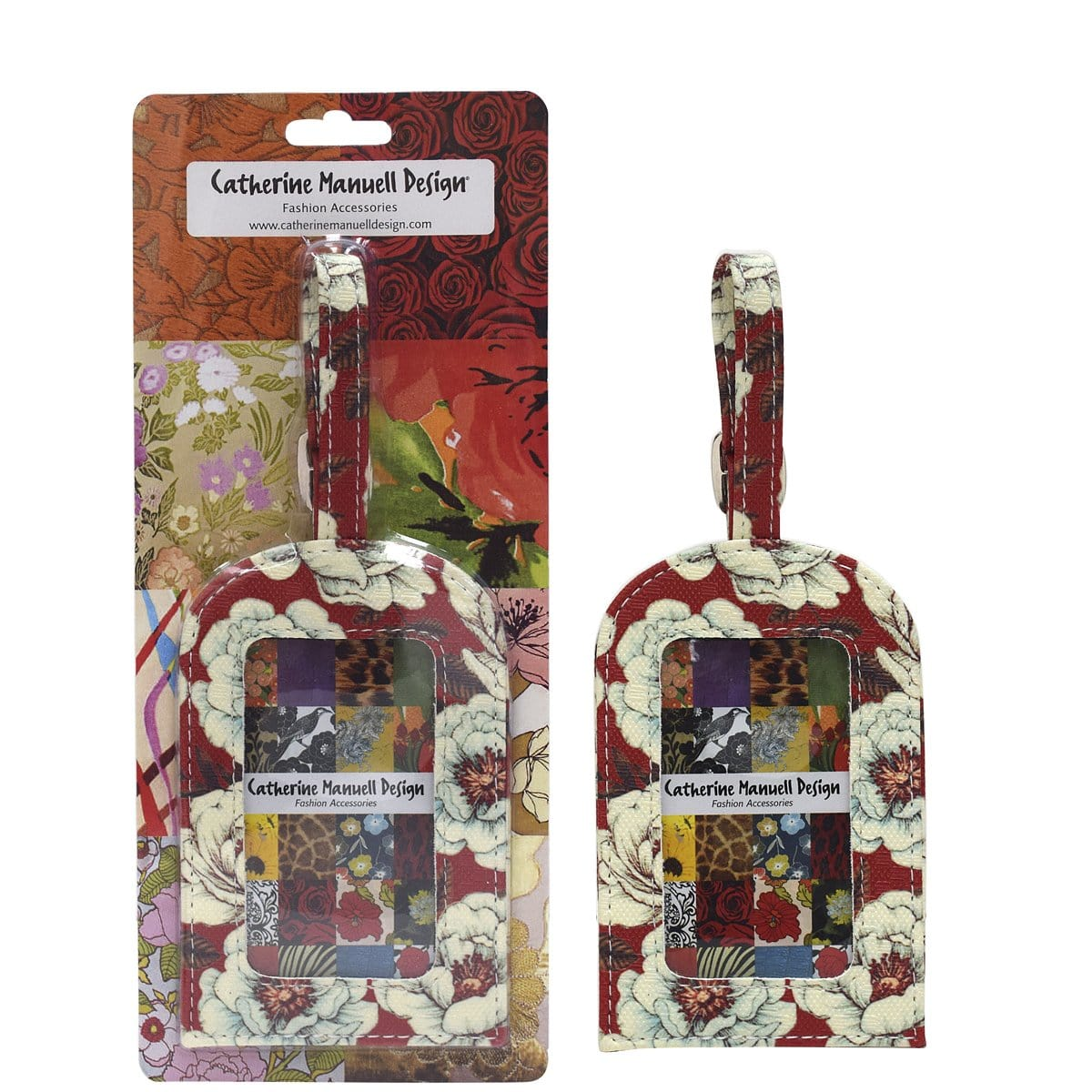 Luggage Tag - Red Floating Roses