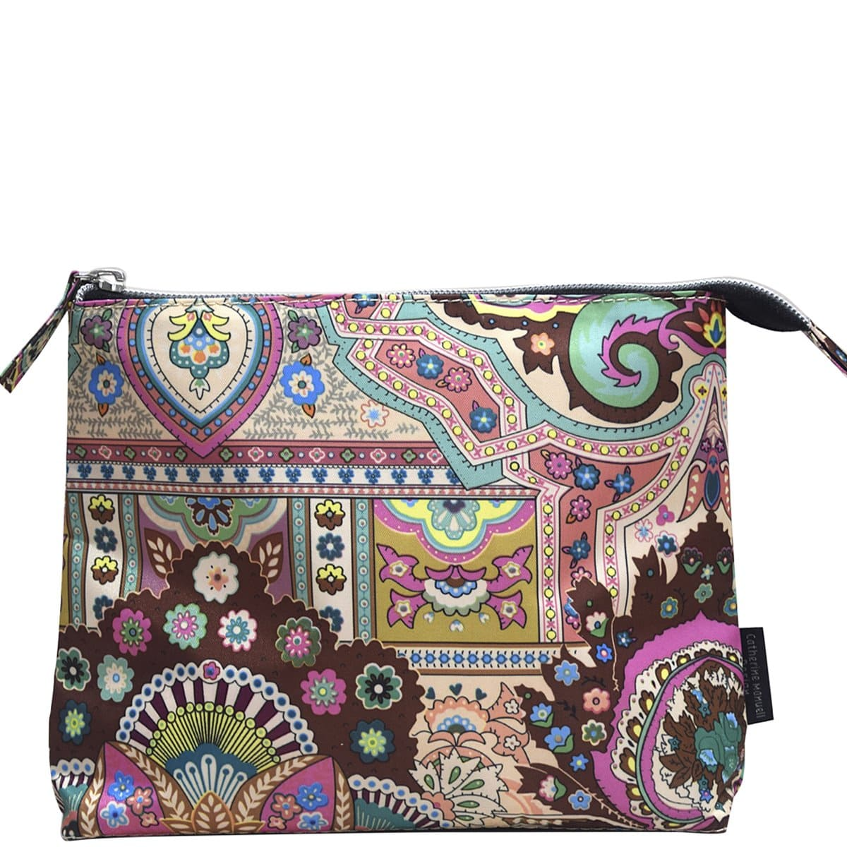 A-Line Toiletry - Large - Pink Green Blue Paisley
