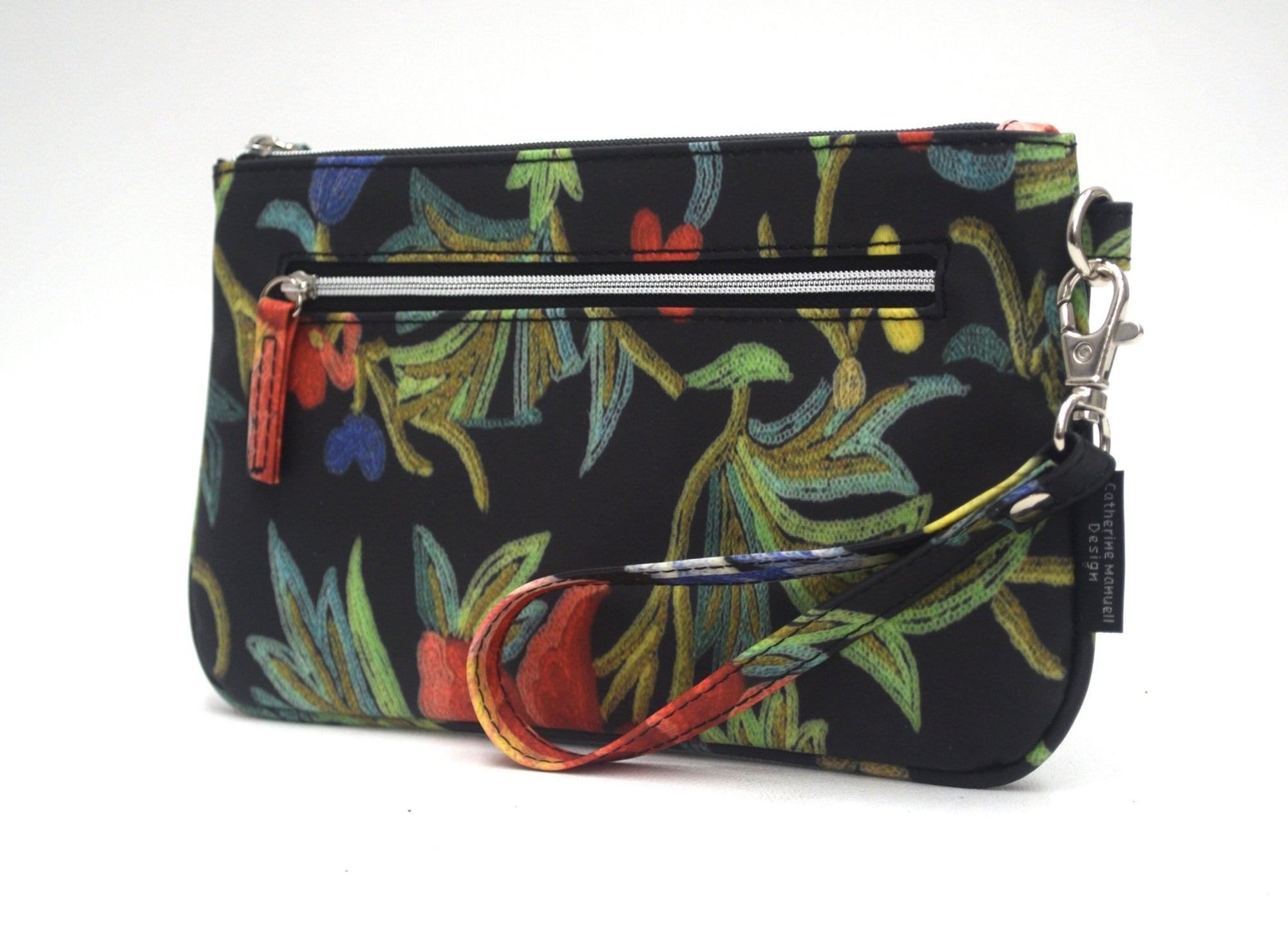 Clutch Wallet - Black Embroidered Look