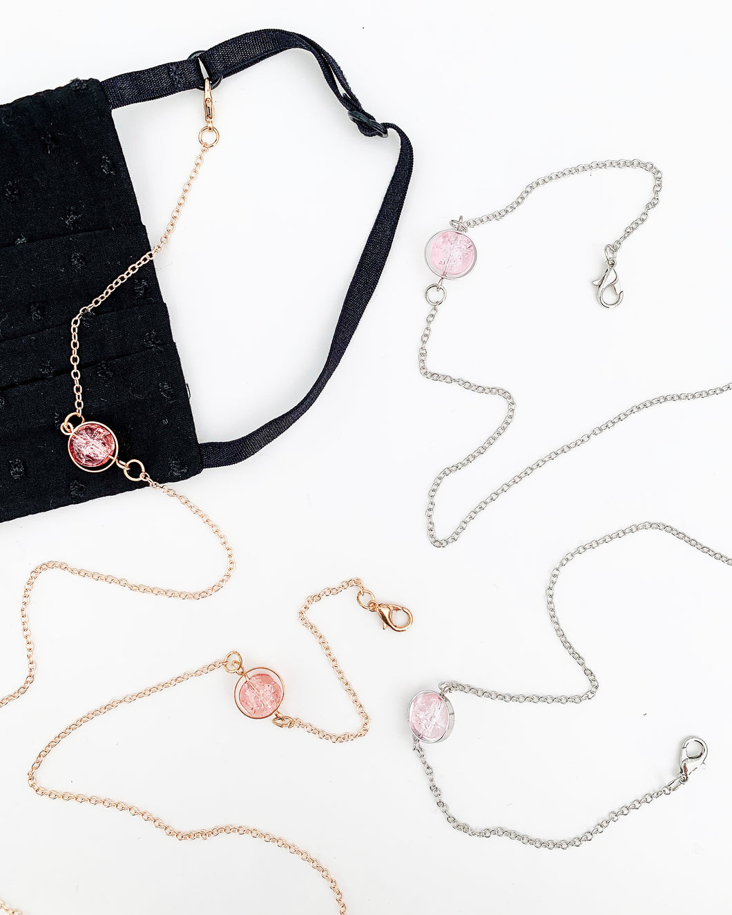 Rose Crystal Necklaces Set