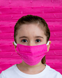 Kids Pink Dot Face Mask