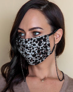 Onyx Crystals Mask Necklace