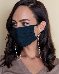 Pearl Chain Mask Necklace