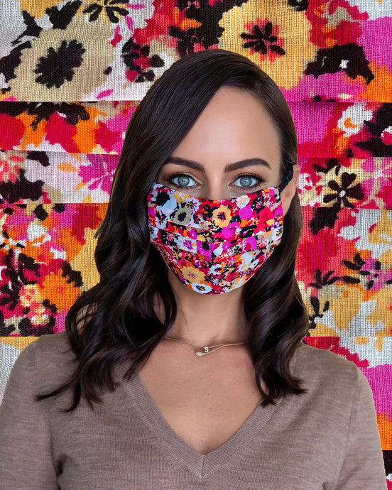 floral fall face mask