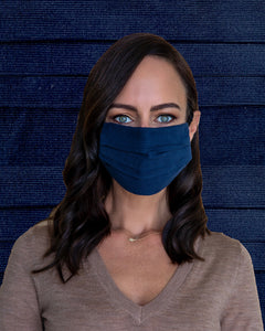 Navy Corduroy Face Mask