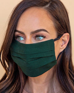 Forest Green Face Mask