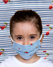 Load image into Gallery viewer, Kids Cherry Stripe Face Mask