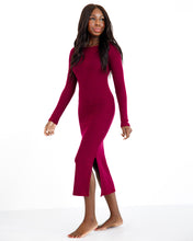 Load image into Gallery viewer, Long Sleeve Dress - Merlot