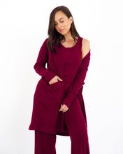Load image into Gallery viewer, Long Cardigan - Merlot