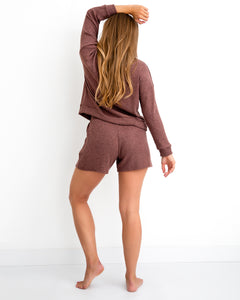 High Waist Shorts - Rosewood