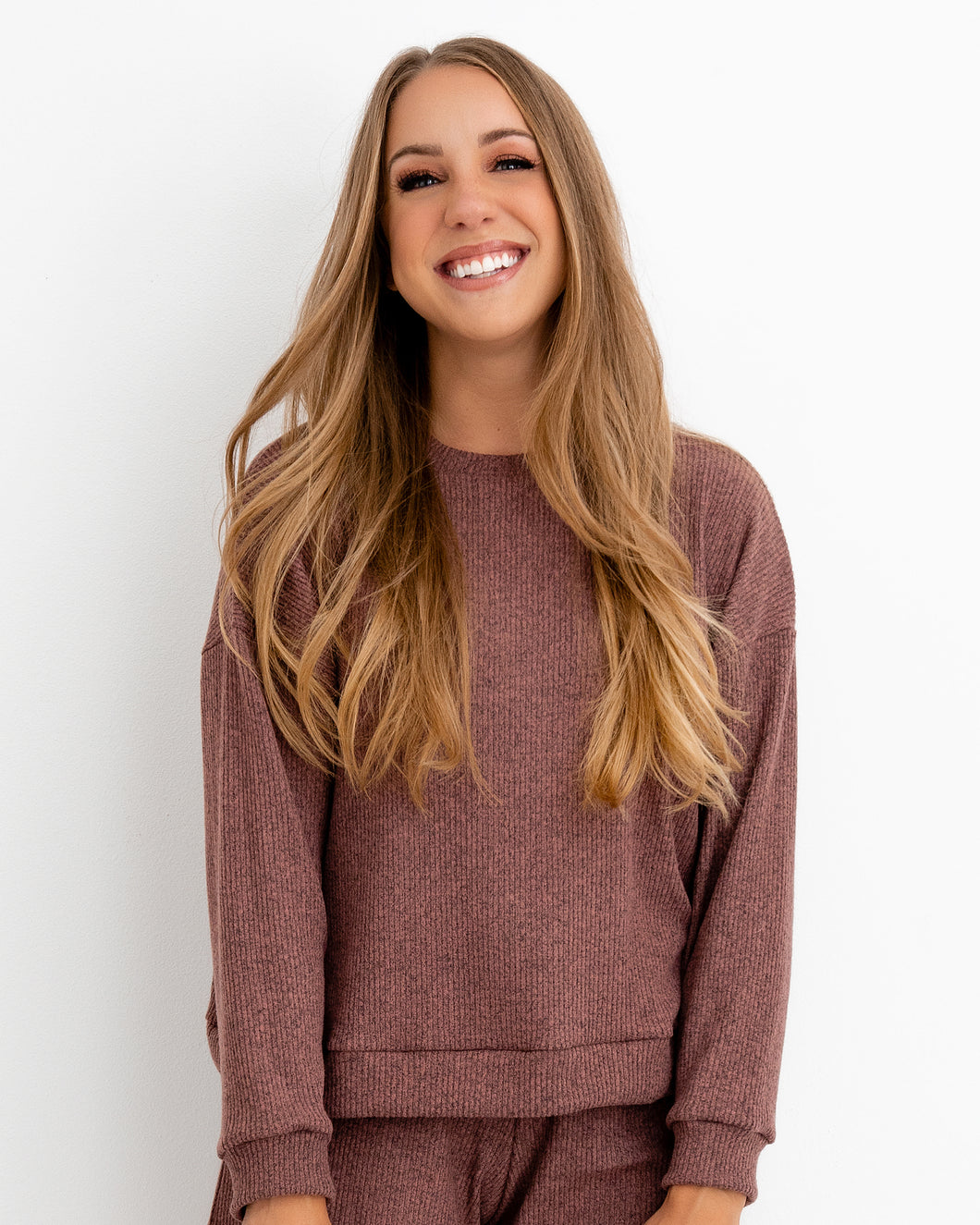 Crewneck Top - Rosewood