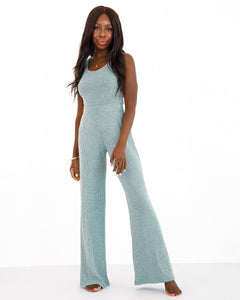 Wide Leg Pant - Aquamarine