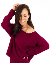 Load image into Gallery viewer, Off the Shoulder Top - Merlot