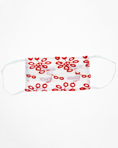 Red Eyelet Face Mask